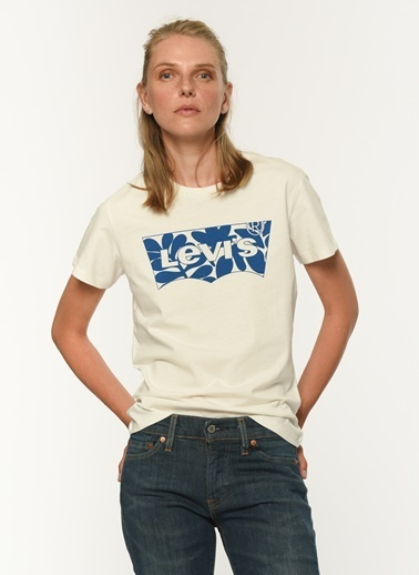 Levi's® 173691510 Lse Batwing Fill Artist Bisiklet Yaka Kadın Tshirt Renkli